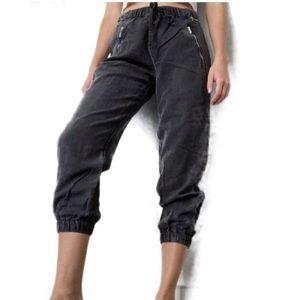 Zara Woman Premium Denim Collection Ankle Joggers